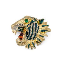 metal tiger head brooch