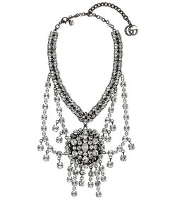 metal necklace with crystals