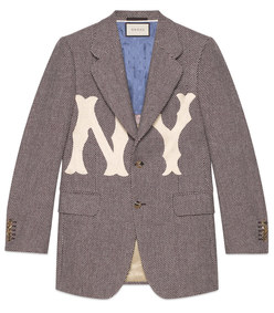 men's wool jacket with ny yankees™ patch