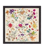 silk scarf with flora gothic print