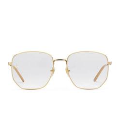 rectangular-frame metal glasses