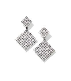 double diamond crystal earrings