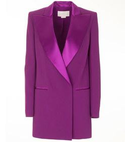 double-breasted fuchsia cady blazer