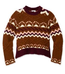 fair isle jacquard knit