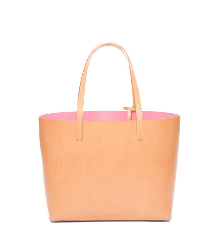 calf leather tote
