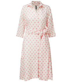 polka dot linen shirt dress