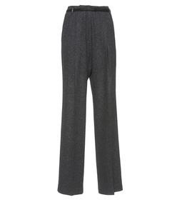 woven wool trousers