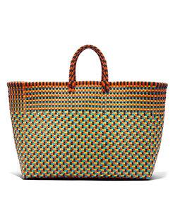large basket weave tote