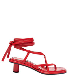 strappy mid heel sandals