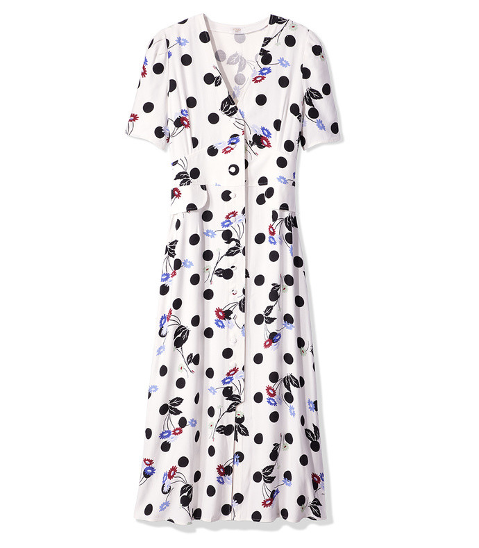 polka dot flare dress