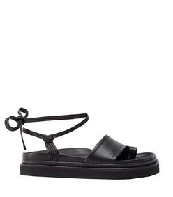 yasmine ankle wrap platform sandal