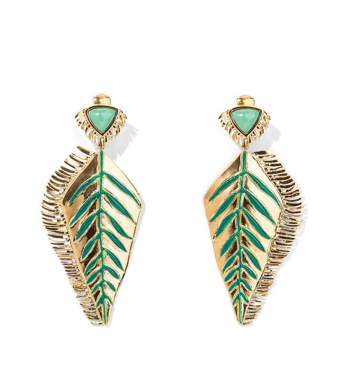 lena leaf earrings