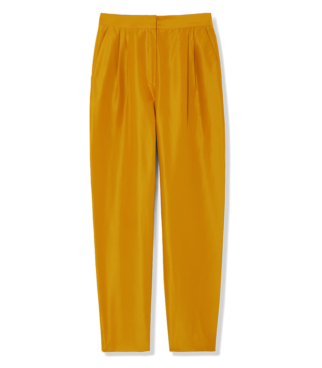 MANSUR GAVRIEL Cotton Silk Taffeta High Waisted Pant