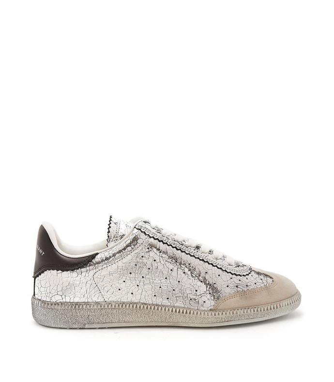 bryce low-top cracked-leather trainers