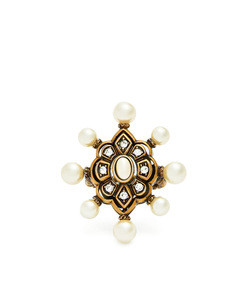 pearl-embellished ring