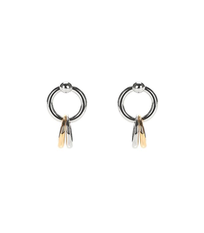 mixed link earrings