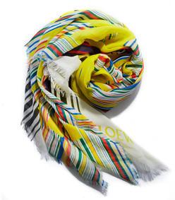 multicolor stripe scarf
