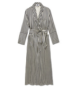 black & white nika striped dress