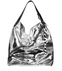 metallic large hobo bag