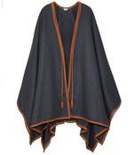 grey & brown blanket cardigan