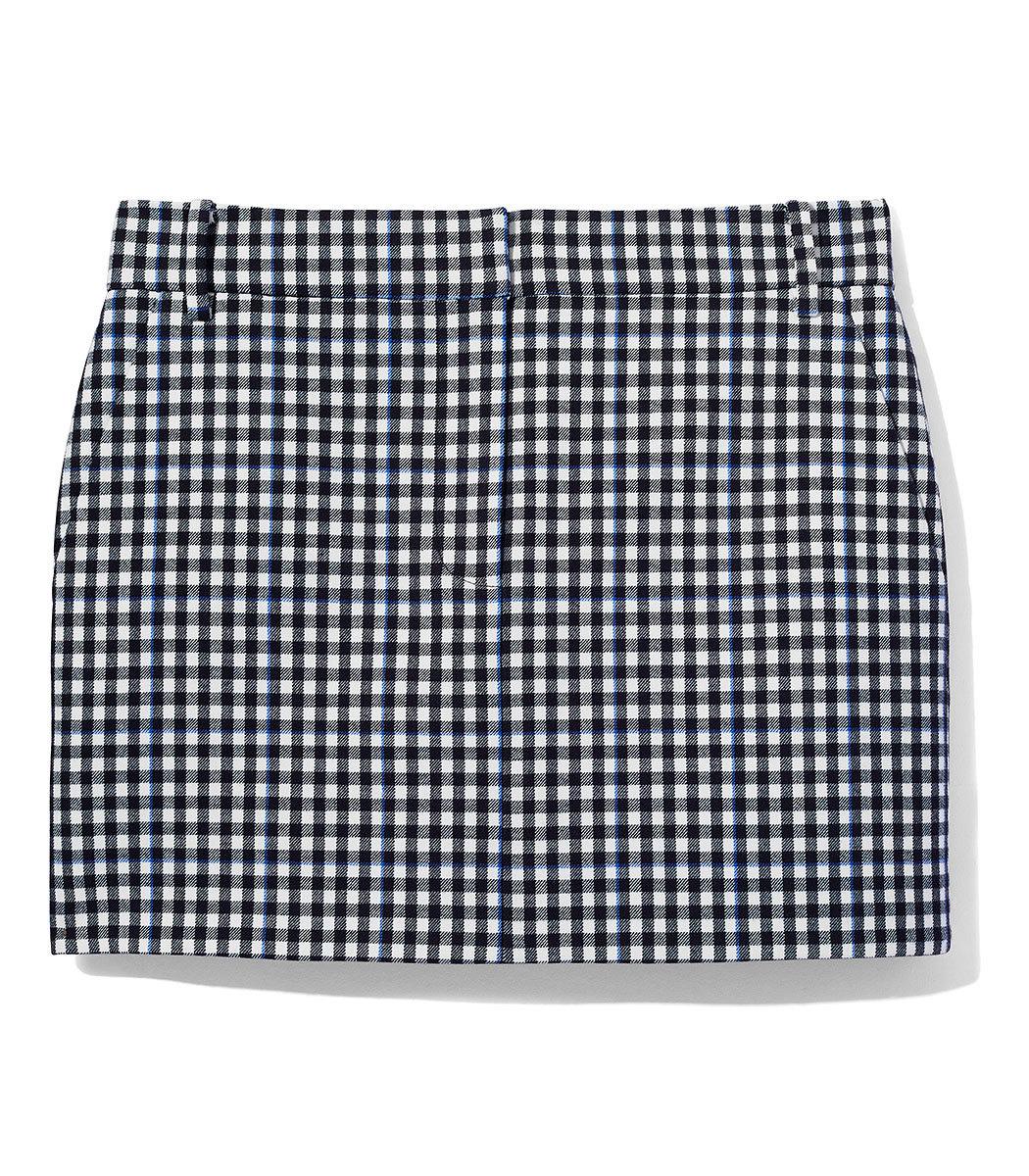 TIBI Gingham Mini Trouser Skirt