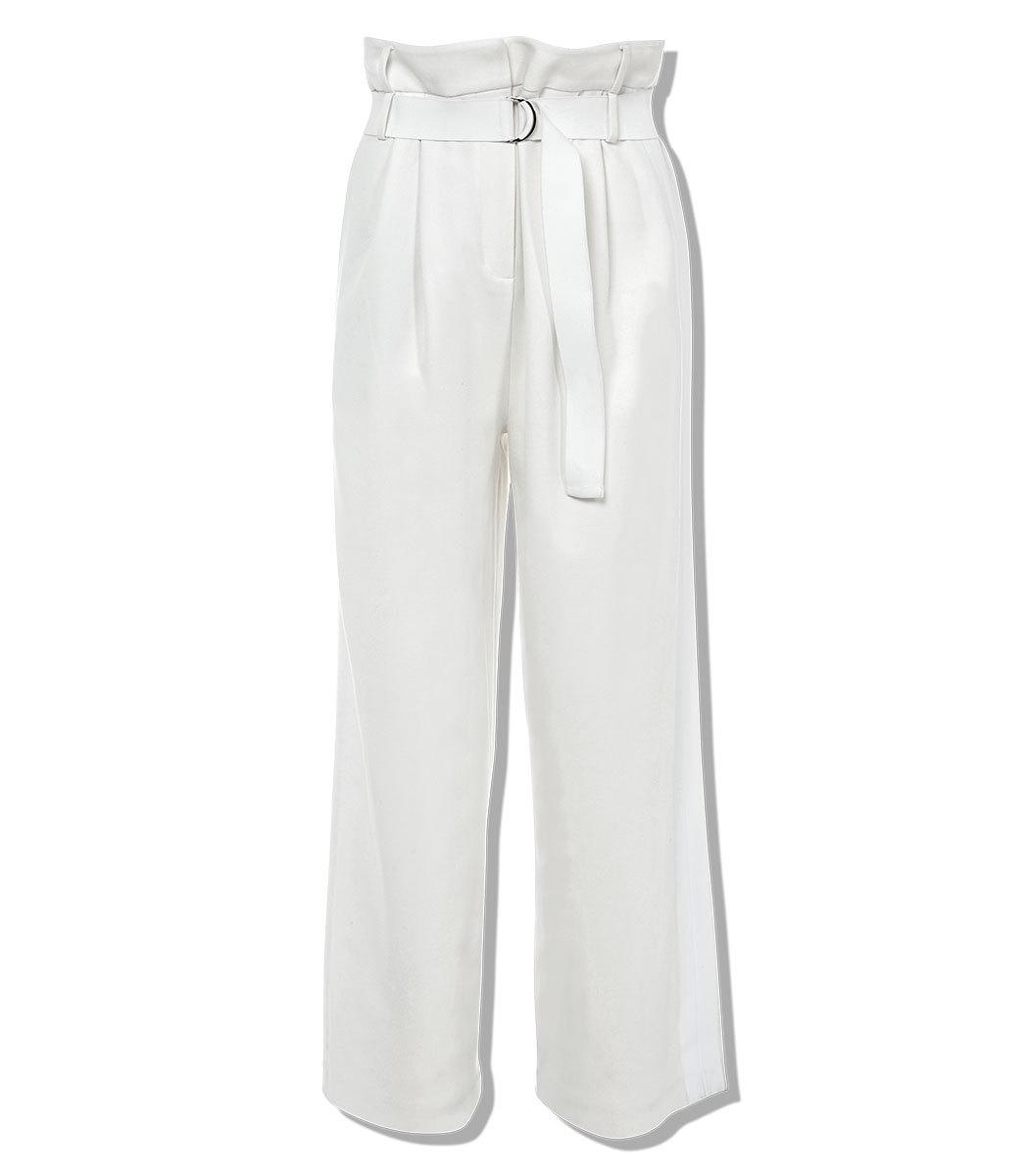 TIBI Mora Suiting Stella Wide Leg Paperbag Pants