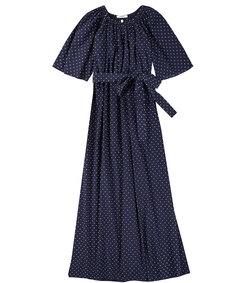 moonstone blouse in mirtillo dot