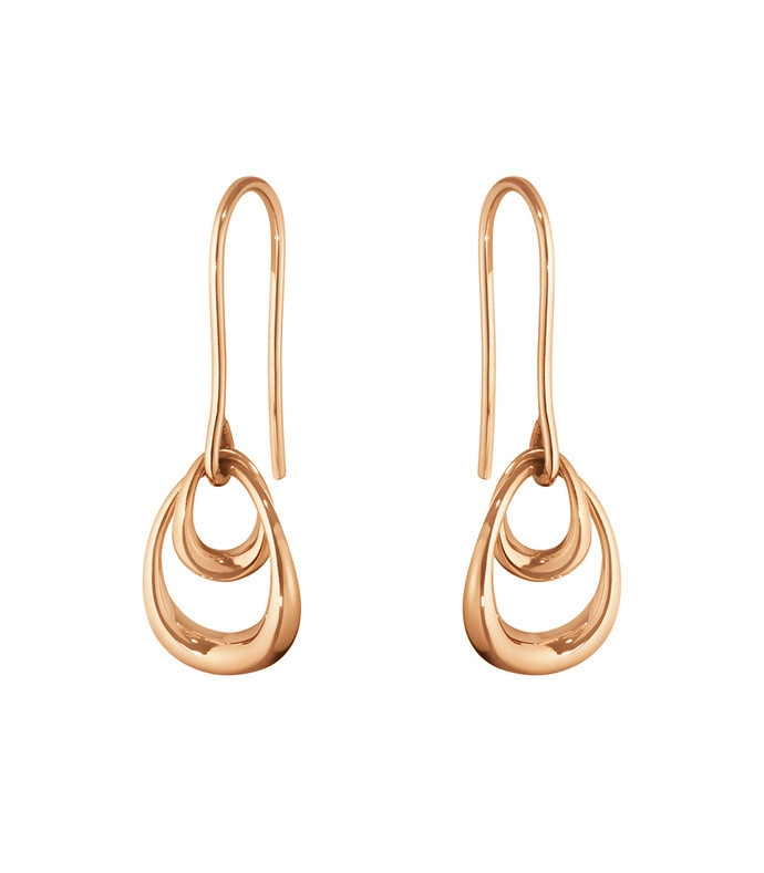 offspring interlocking drop earrings