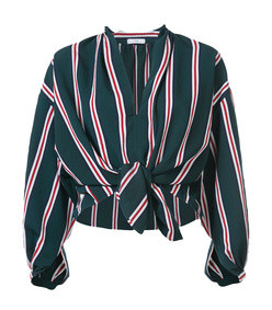 knotted peasant blouse striped