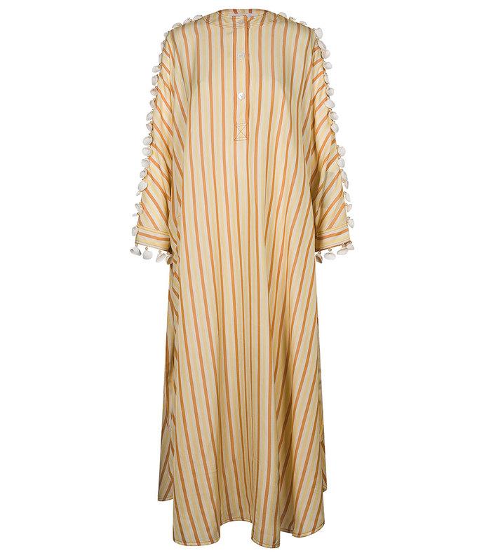 embroidered pajama-style dress
