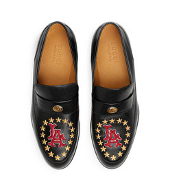 leather loafer with la angels™ patch
