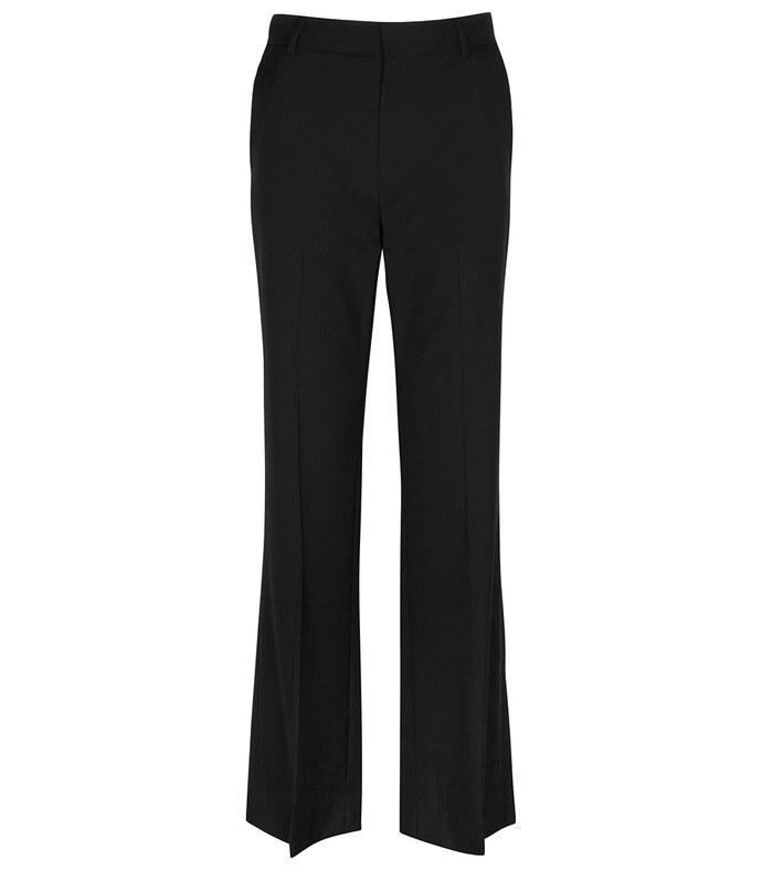 bootcut trouser with back slit in jet black