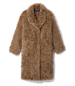 the gracie curly shearling coat
