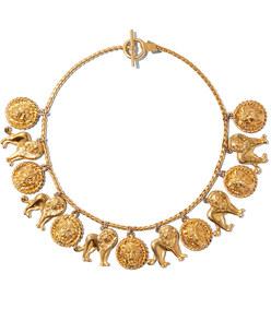 lion charm necklace