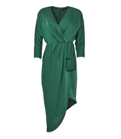 calypso wrap-style evening dress
