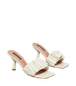 dallas crinkle patent mule sandal