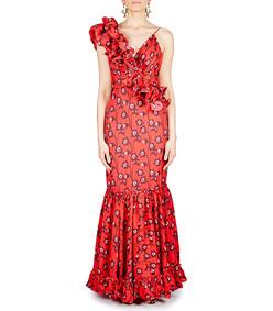saint sarah ruffled georgette dress