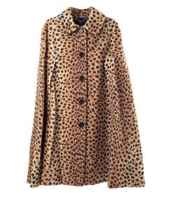buttoned cape coat