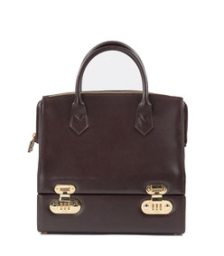 fendi leather vanity case