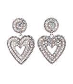 rambaud crystal heart earrings