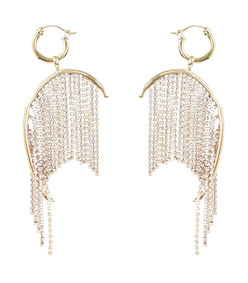 lathan strass chain earrings