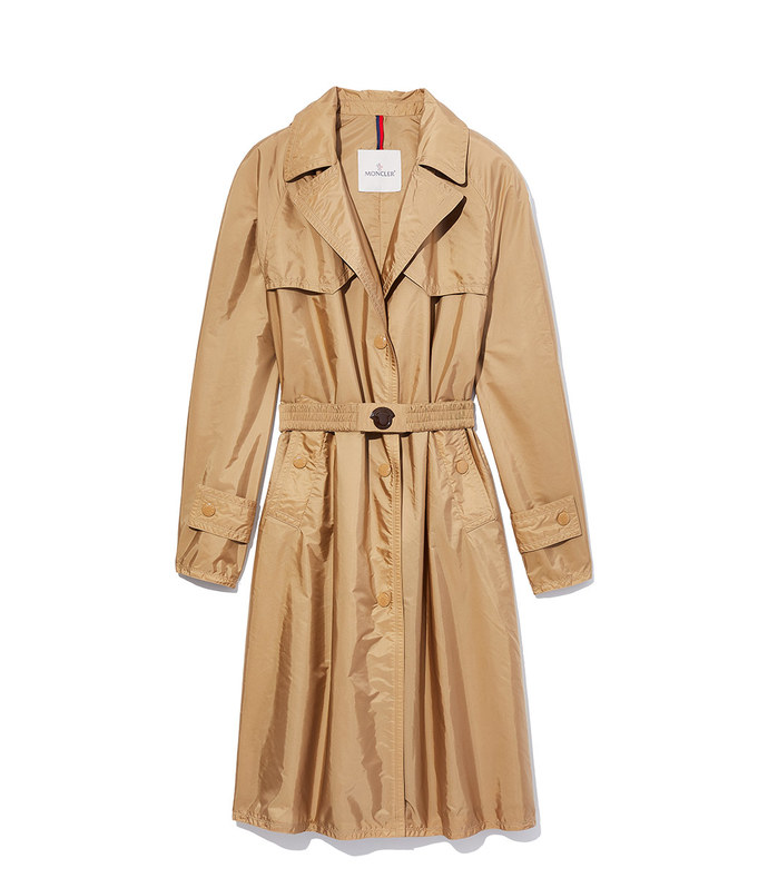 vanille trench coat