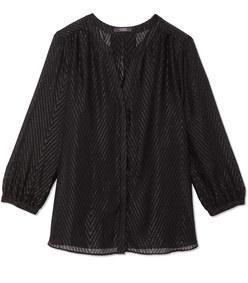 lurex pintuck blouse