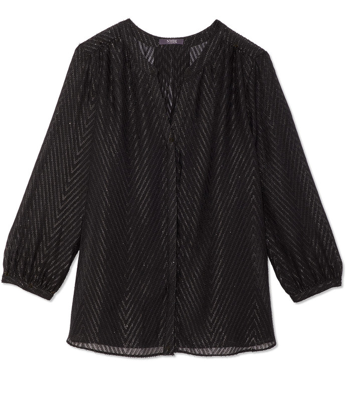 lurex pintuck blouse