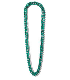 malachite rope necklace set