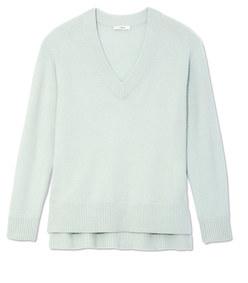 cashmere v-neck tunic