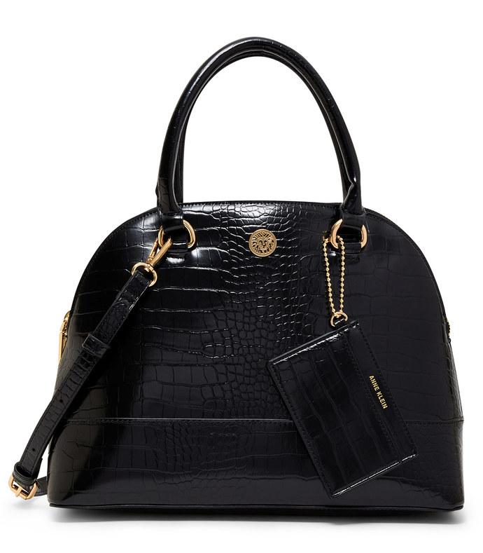 triple compartment satchel bag