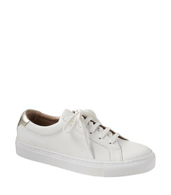 essential leather sneaker in white
