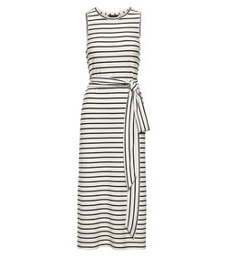 stripe ponte tank dress