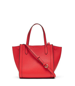 italian leather mini tailored tote bag